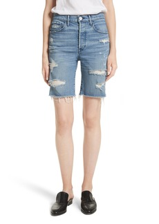 3x1 NYC W3 Ryder Ripped Denim Shorts (Sutra)