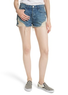 3x1 NYC W4 Carter Ripped High Waist Denim Shorts (Elmar)