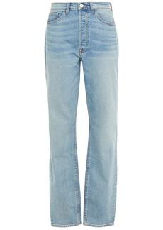 3x1 Woman + Mimi Cuttrell Kirk Faded Boyfriend Jeans Light Denim