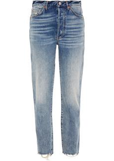 3x1 Woman Claudia High-rise Straight-leg Jeans Mid Denim
