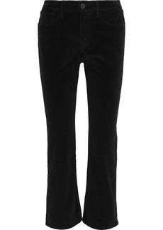 3x1 Woman Cotton-blend Velvet Kick-flare Pants Black