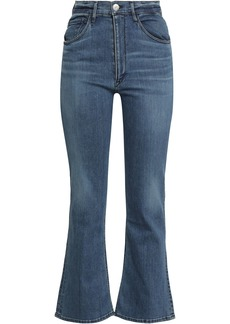 3x1 Woman Cropped High-rise Bootcut Jeans Mid Denim