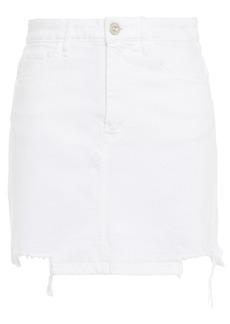 3x1 Woman Distressed Denim Mini Skirt White