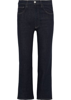 3x1 Woman High-rise Kick-flare Jeans Dark Denim