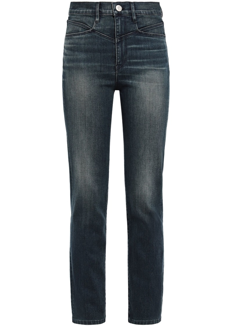 3x1 Woman High-rise Straight-leg Jeans Mid Denim