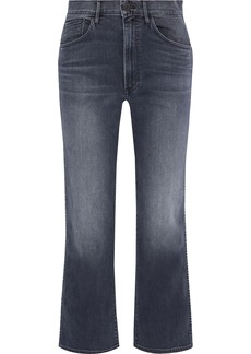 3x1 Woman Joni Faded High-rise Wide-leg Jeans Dark Denim