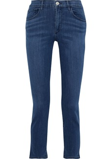 3x1 Woman Luna Cropped High-rise Slim-leg Jeans Mid Denim
