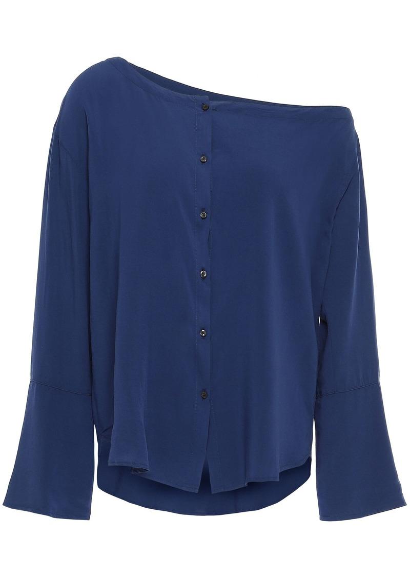 3x1 Woman One-shoulder Mousseline Top Blue