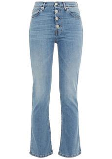 3x1 Woman Poppy Faded Mid-rise Kick-flare Jeans Light Denim