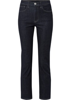 3x1 Woman Stevie High-rise Straight-leg Jeans Dark Denim