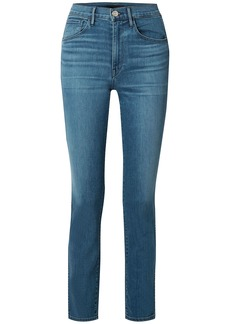 3x1 Woman W3 High-rise Straight-leg Jeans Mid Denim