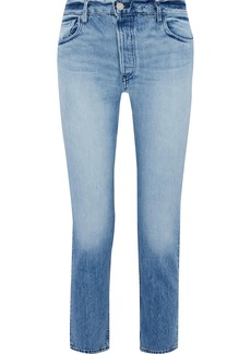 3x1 Woman W3 Higher Ground Faded Mid-rise Straight-leg Jeans Light Denim