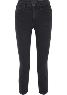 3x1 Woman W4 Colette Cropped High-rise Slim-leg Jeans Black
