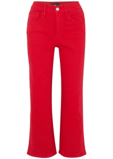 3x1 Woman W4 Shelter High-rise Kick-flare Jeans Red
