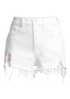 3x1 Carter Deconstructed Denim Cut-Off Shorts