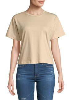 3x1 Cropped Cotton Boyfriend Tee