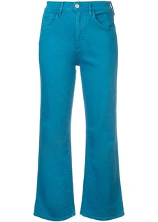3x1 cropped straight-leg jeans