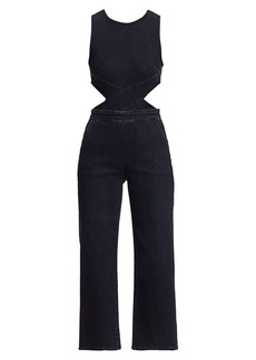 3x1 Crossbody Cutout Jumpsuit