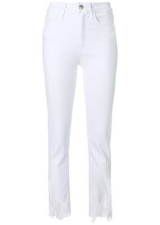 3x1 distressed hem jeans