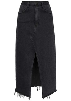 3x1 Elizabella front slit denim skirt