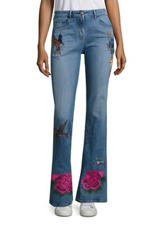 3x1 Embroidered Flared Leg Jeans