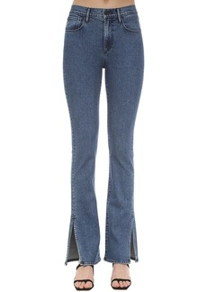 3x1 Flared Cotton Denim Jeans W/slits