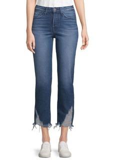 3x1 Higher Ground Crop Distressed Boyfriend Jeans