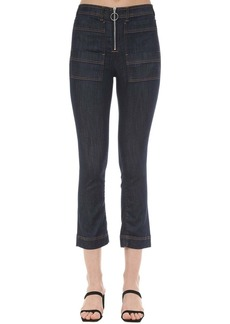 3x1 Scarlet Zipped Cotton Denim Jeans