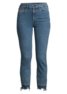 3x1 Shelter Low-Rise Straight-Leg Crop Jeans