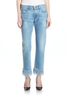 3x1 Straight Leg Fringe Jeans