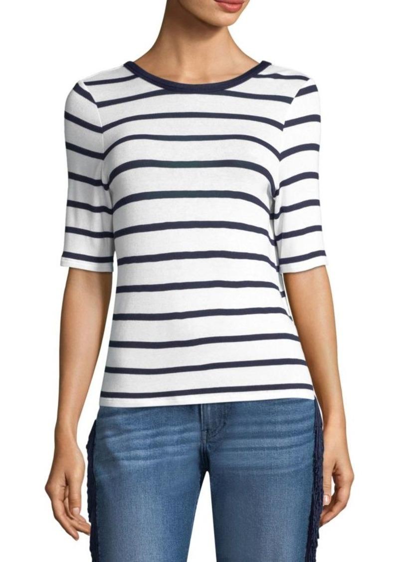 3x1 Twist Back Stripe Tee
