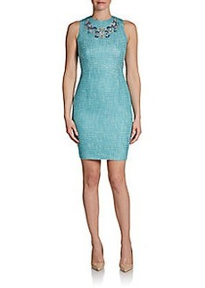 Cynthia Steffe Adriana Embroidered Sheath Dress