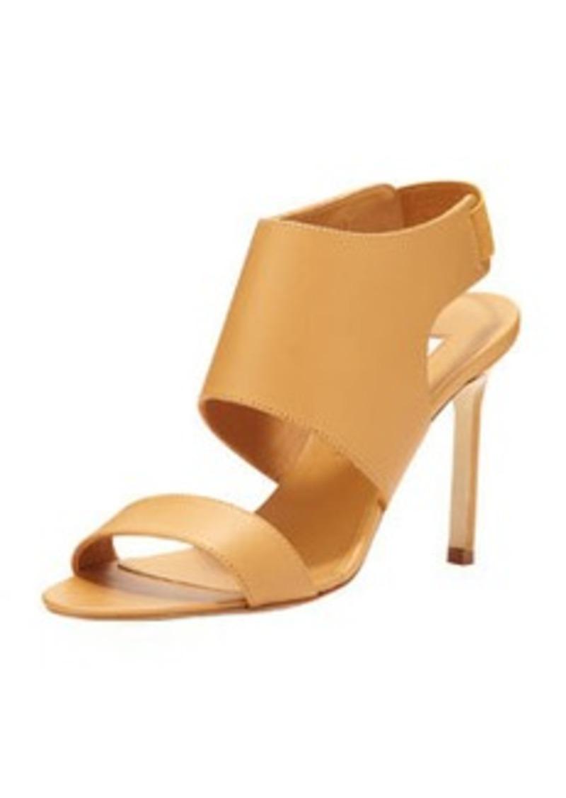 Manolo Blahnik Open-Toe Elastic Slingback Sandal, Beige   Open-Toe Elastic Slingback Sandal, Beige