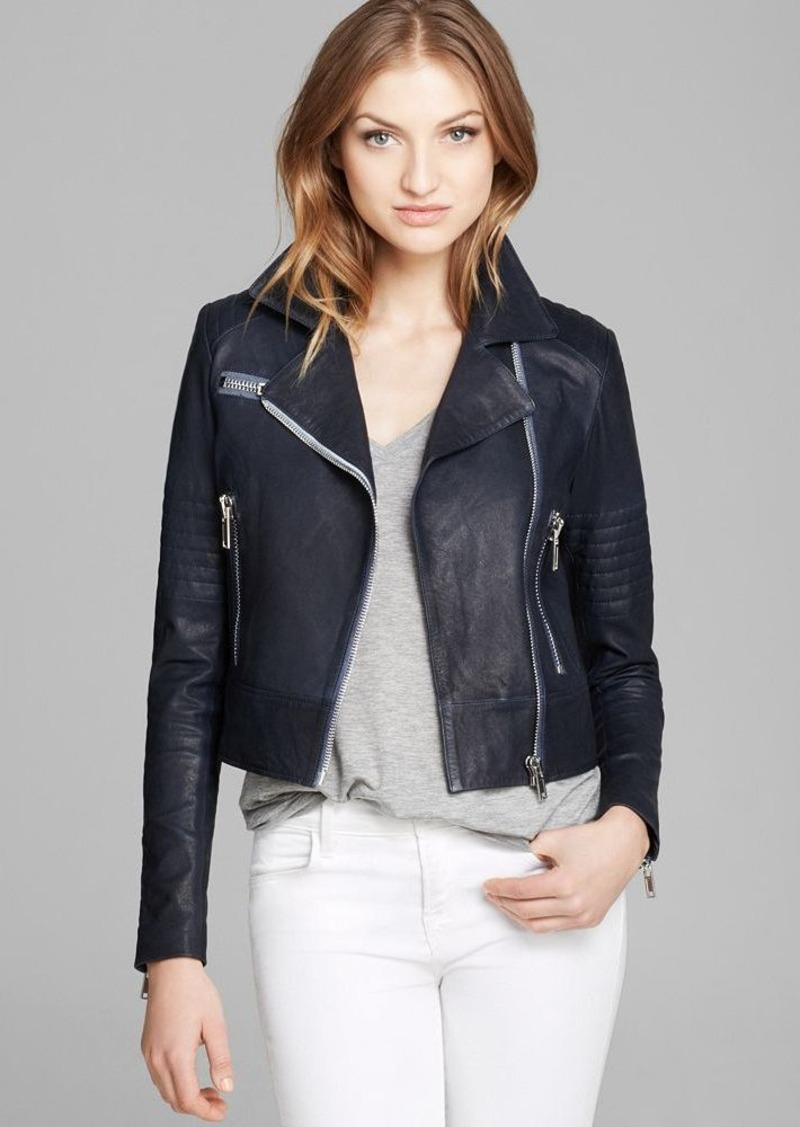 J Brand Jacket - Chiaki Leather Moto