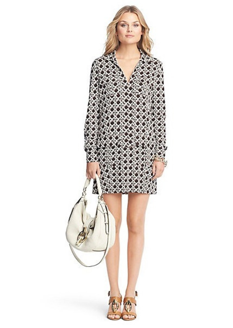 Diane Von Furstenberg Dilly Printed Silk Jersey Tunic Dress