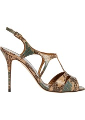 Manolo Blahnik Worty Cutout T-strap Sandals