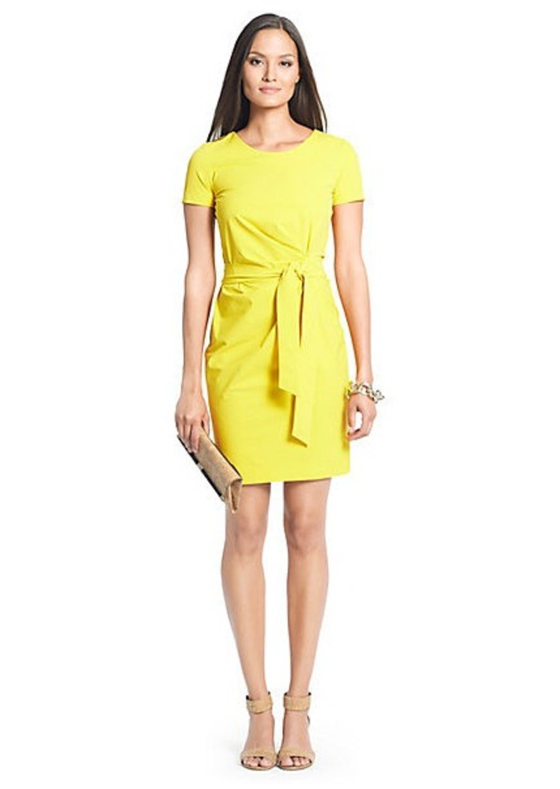Diane Von Furstenberg Zoe Short Sleeve Cotton Dress