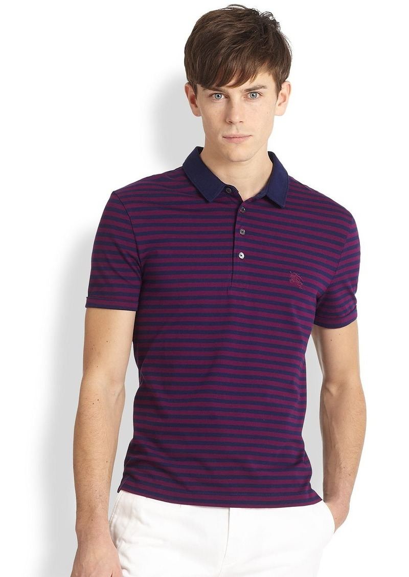 Burberry Burberry Brit Berner Striped Polo Shirt Shop It
