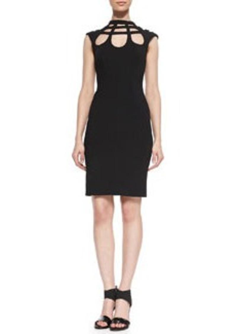 Catherine Malandrino Open-Back Cutout Crepe Dress   Open-Back Cutout Crepe Dress