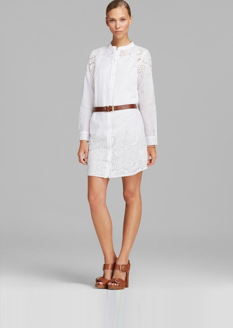 MICHAEL Michael Kors Eyelet Shirt Dress