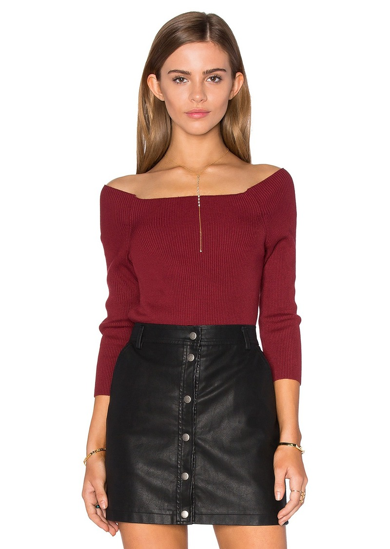 525 america 3/4 Sleeve Off Shoulder Sweater