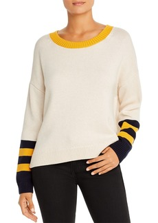 525 America Color-Block Split-Back Sweater