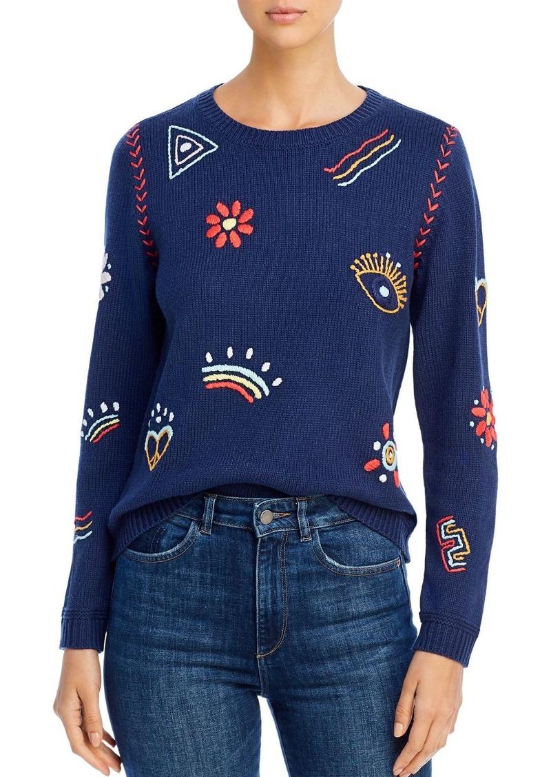 525 America Embroidered Crewneck Sweater