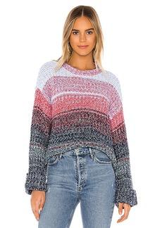 525 america Gradient Colored Crew Pullover Sweater