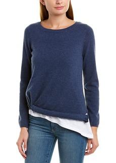 525 America Layered Asymmetrical Cashmere Sweater