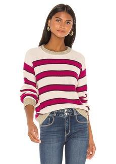 525 america Lurex Trim Stripe Pullover