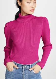 575 Denim 525 Metallic Puff Sleeve Pullover