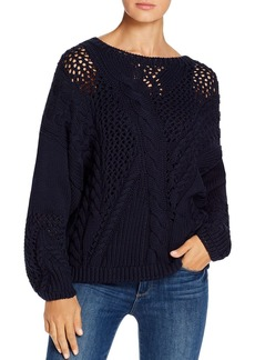 525 America Mixed Cable Stitch Sweater