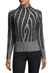 525 America Mock-Neck Plaited Sweater