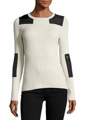 525 America Patched Long-Sleeve Sweater